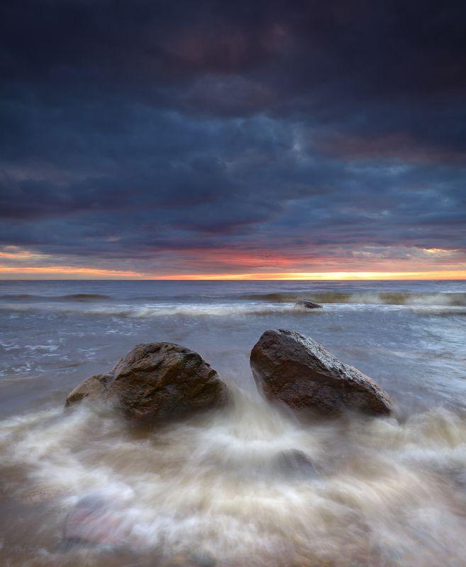 закат море латвия пейзаж шторм ***photo preview