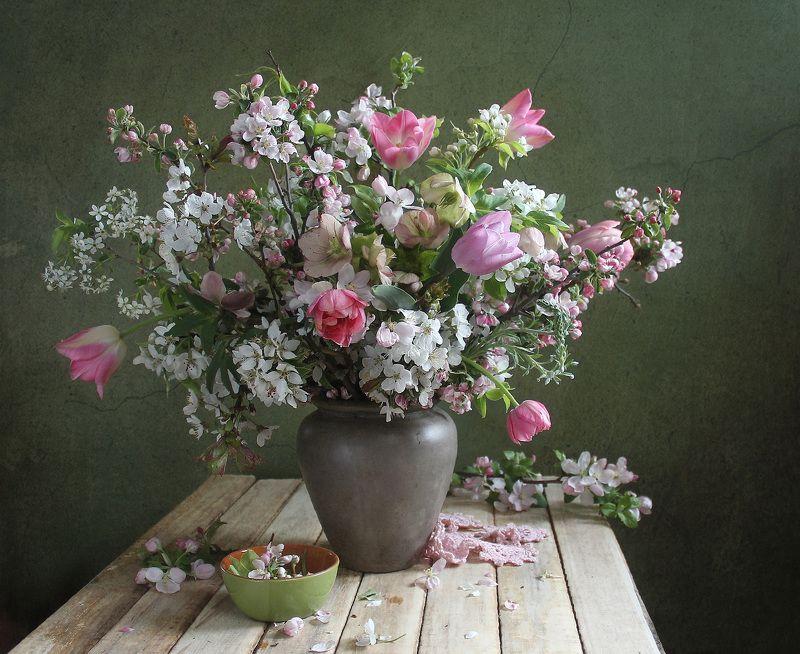 натюрморт, цветы, марина филатова, весна, художественное фото Цветущий майphoto preview