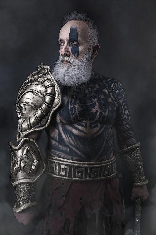 #kirillgolovan #warrior #grayhead Warrior tattoophoto preview