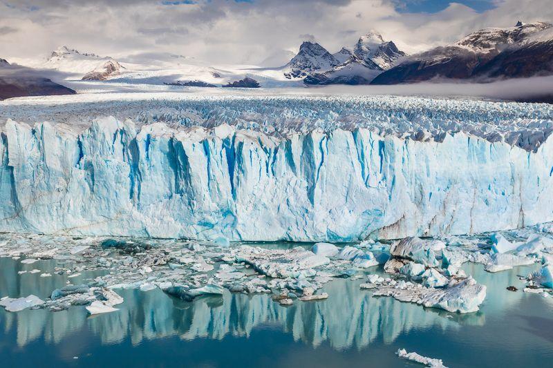 патагония, горы, рассвет, аргентина Перито Мореноphoto preview