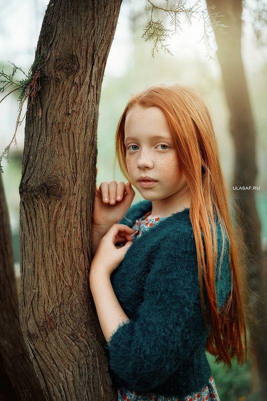 girl, portrait, девочка, портрет, весна, spring, red, рыжая, рыжик Закатphoto preview