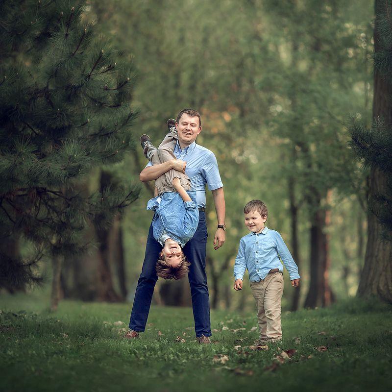 семья, портрет, дети Папа может!photo preview