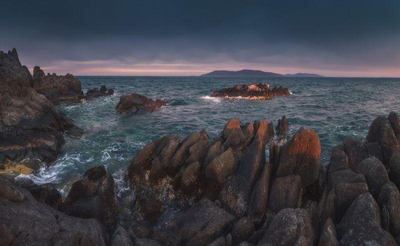 панорама, весна, море, скалы, камни ***photo preview