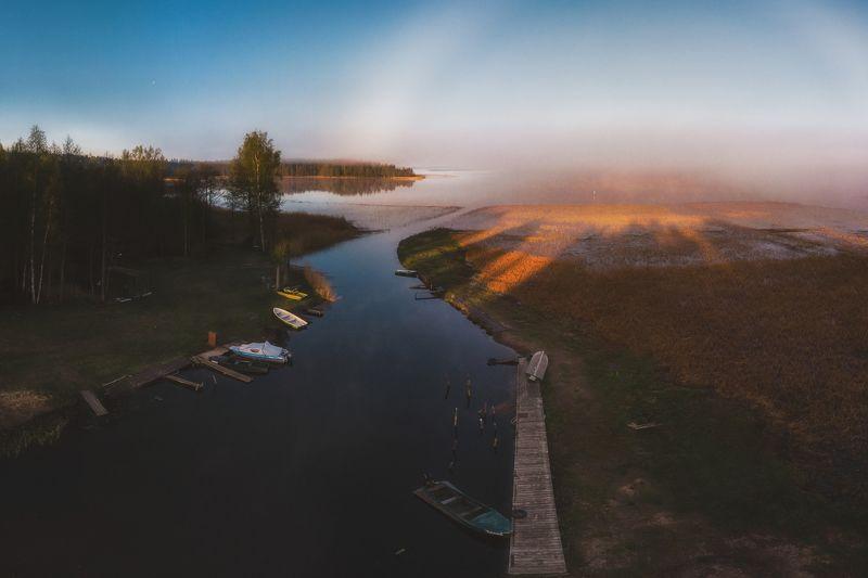Рассвет на озере Усма photo preview