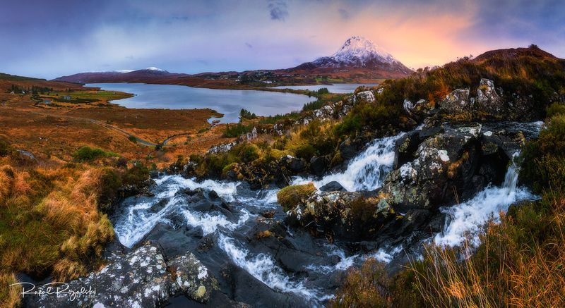 ireland, landscape, errigal, donegal, waterfall,  Mount Errigal - Irelandphoto preview