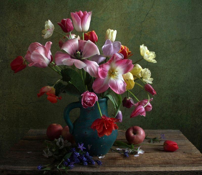 натюрморт, цветы, марина филатова, тюльпаны Тюльпаны, тюльпаны поют о веснеphoto preview
