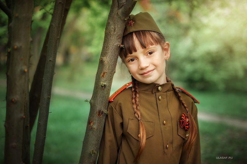 girl, portrait, девочка, портрет, война, 9мая, солдат Аленаphoto preview
