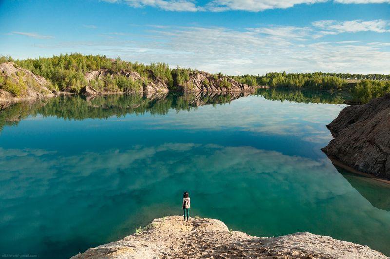 Кондуки, Тула, озеро, пейзаж, бирюза Бирюзаphoto preview