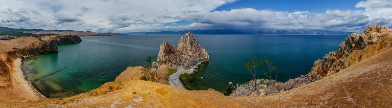 природа, пейзаж, озеро, байкал, сибирь, остров, ольхон,  лето, панорама *photo preview