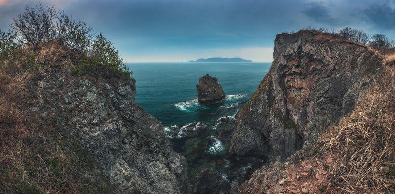 панорама, море, скалы, утро, весна ***photo preview