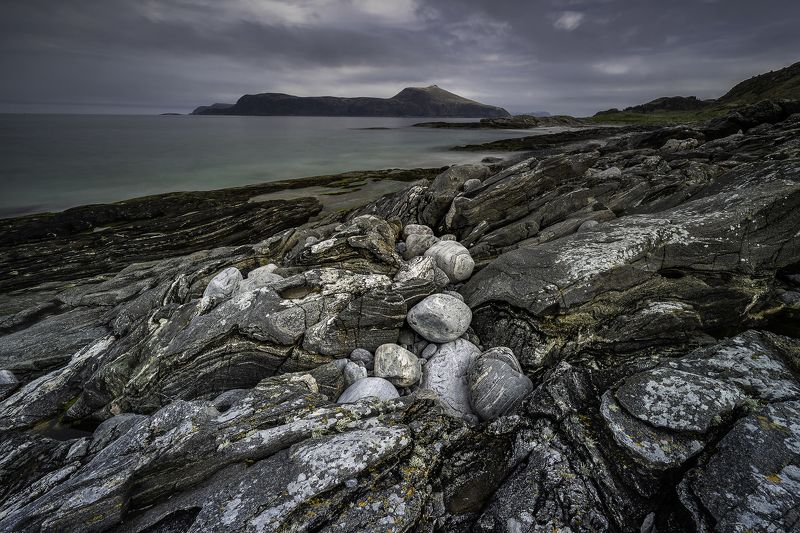 stones, rocks, beach, norway, landscape, colours, forms, structures On the beachphoto preview
