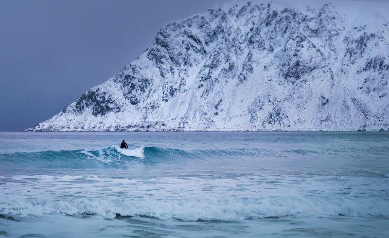 норвегия, лофотен, lofoten Полярный серферphoto preview