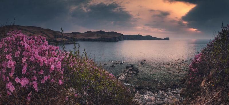 панорама, море, скалы, утро ***photo preview
