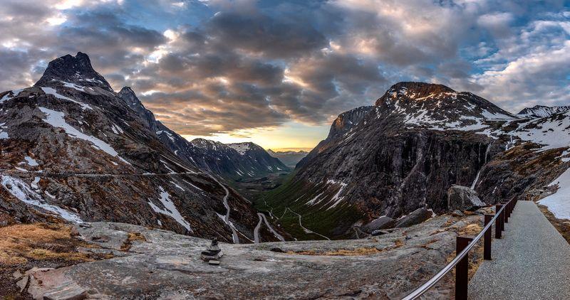 trollstigen, norway, mountains, panorama, nature, scandinavia Trollstigen- panophoto preview