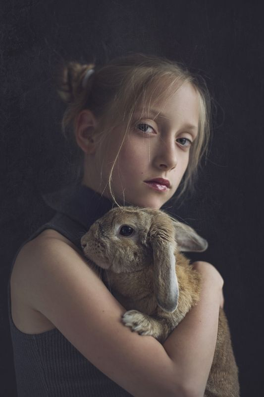 girl, bunny, portrait, natural light, Nadia i Polaphoto preview