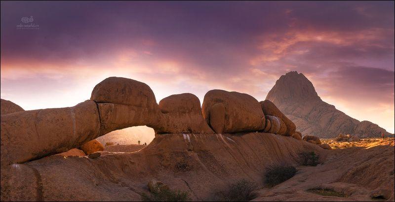 Намибия, пейзаж, закат, парк Каменная арка в парке Шпитцкопп (Намибия)photo preview