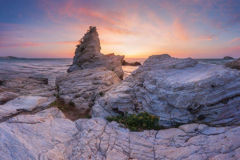 пейзаж море италия утро рассвет Italian morningphoto preview