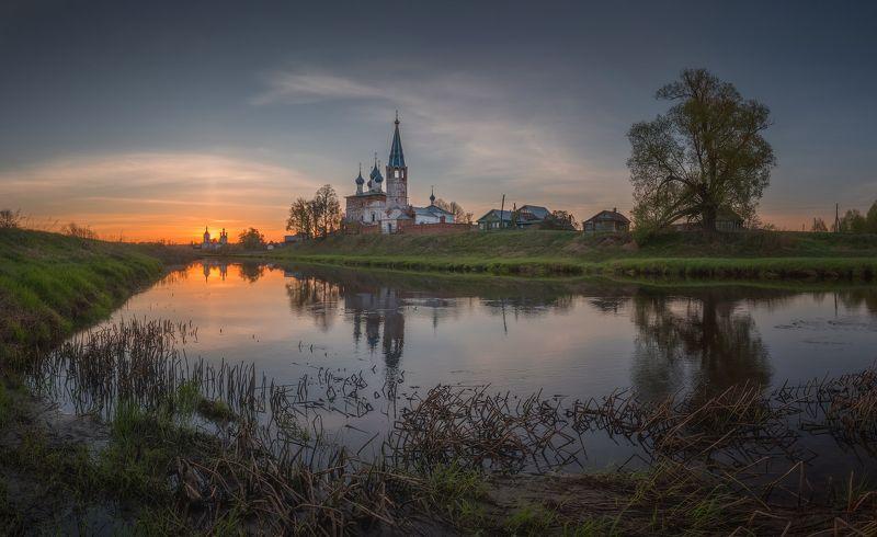 река, утро, дунилово, пейзаж,  храм, рассвет Утроphoto preview