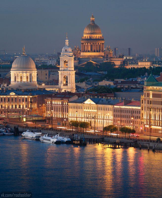 Urban exploration, крыша, телеобъектив, Санкт-Петербург, храм, ночь, рассвет White nightphoto preview