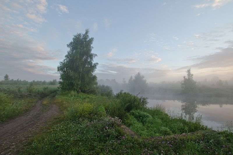 пейзаж, утро, рассвет На берегах июляphoto preview