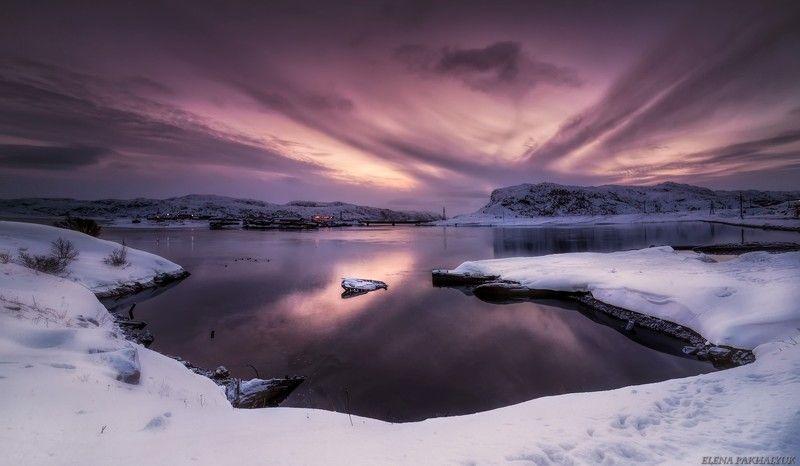 северный ледовитый океан,баренцево море, териберка, зима,лед, снег, побережье,сияние,северное,кольский, кольский полуостров, океан,море,горы,облака,пейзаж,природа,россия,панорама, длинная выдержка Крылья северного рассветаphoto preview
