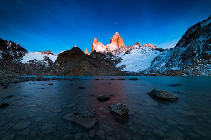 патагония, горы, рассвет, аргентина Дыхание ночиphoto preview