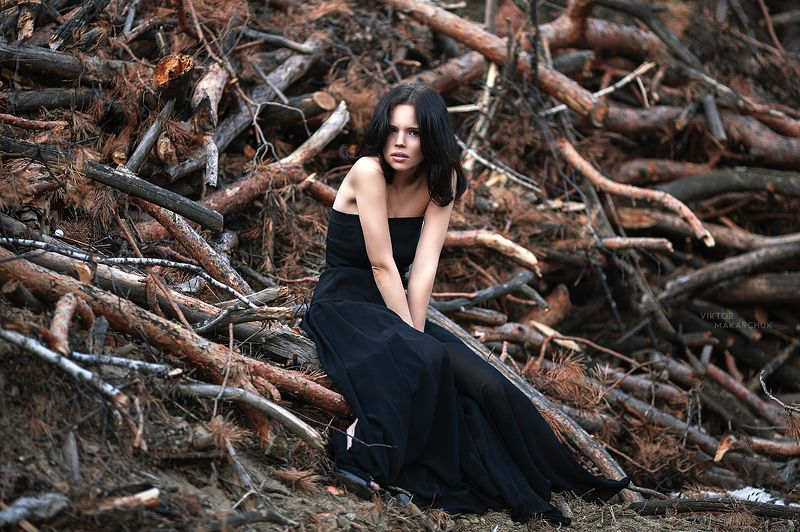 portrait, model, mood, emotions, forest, nature, female * * *photo preview