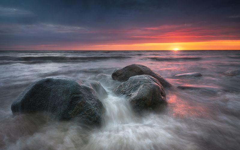 шторм пейзаж закат море латвия рига Штормphoto preview