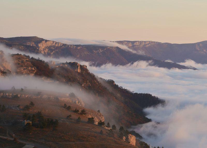 крым, ай-петри, рассвет, облака Облаков рекаphoto preview