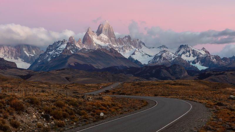 фицрой, патагония, аргентина Дорога на Фицройphoto preview