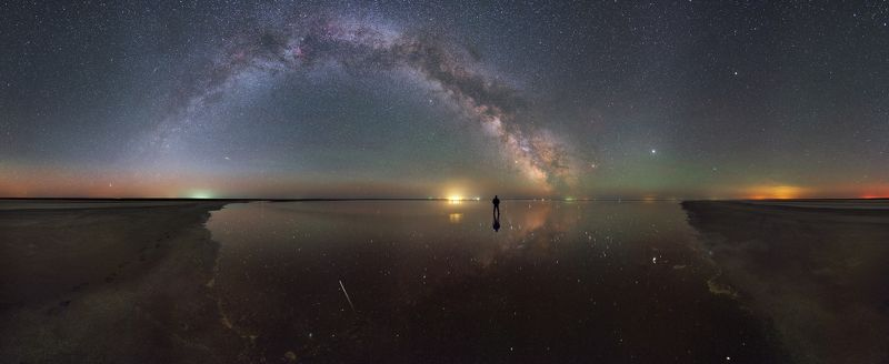 ночь, млечный путь, космос, звезды, 2018 На плоскости между небом и землейphoto preview