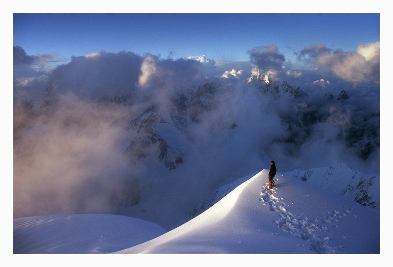 безенги, шхара, кавказ, горы, закат, альпинизм Вечер. На Шхаре.photo preview