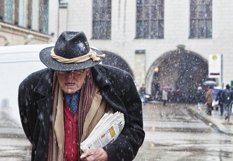мюнхен, снег, пауль, диттель Последний снег Пауля Диттеля. фото превью