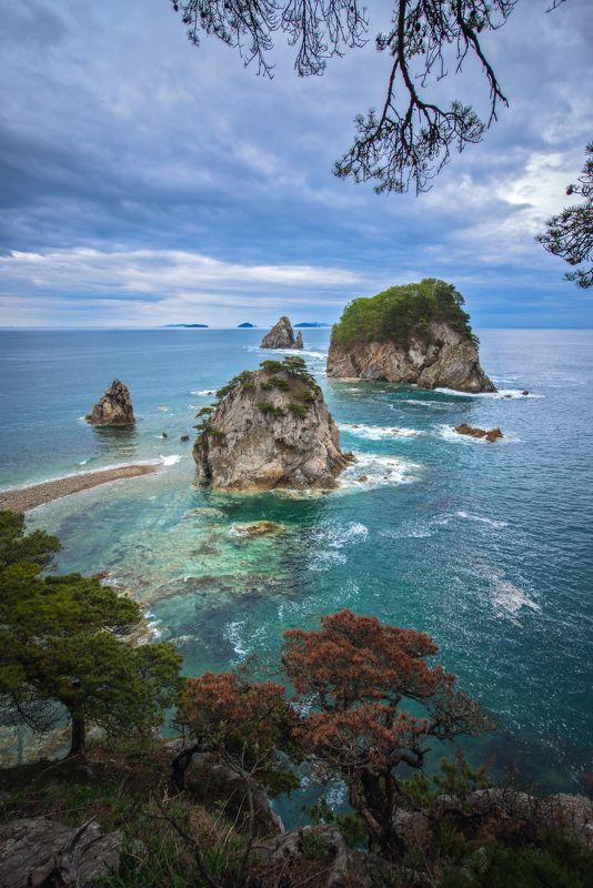 Гамова, острова,море, скалы, Приморский край Убегающие островкиphoto preview