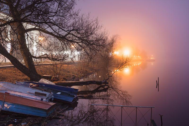 ночь, свет, туман, плёс, иваново, россия, пейзаж, fujifilm, xtrance, landscape, night, fog Плёсphoto preview