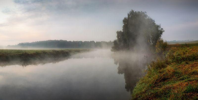 рассвет, река, осень, Утроphoto preview