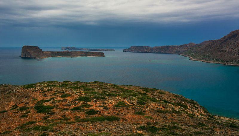природа, пейзаж, греция, крит, остров, море, берег, горы, скалы, осень, небо, облака, тучи, дождь ***photo preview