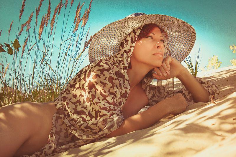 девушка, лето, тень жара В дозоре...photo preview