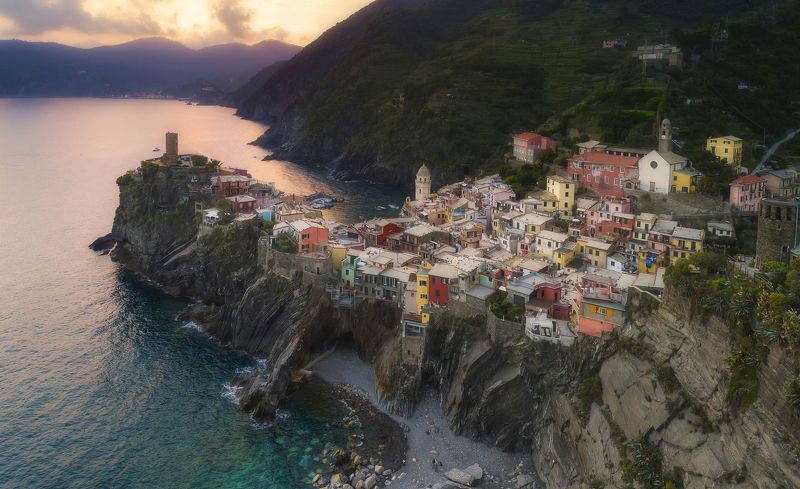 evening in vernazza italy Вечер в Вернацеphoto preview