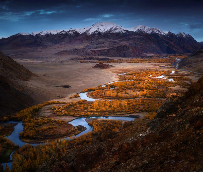 алтай, горы, осень С Алтайских высотphoto preview