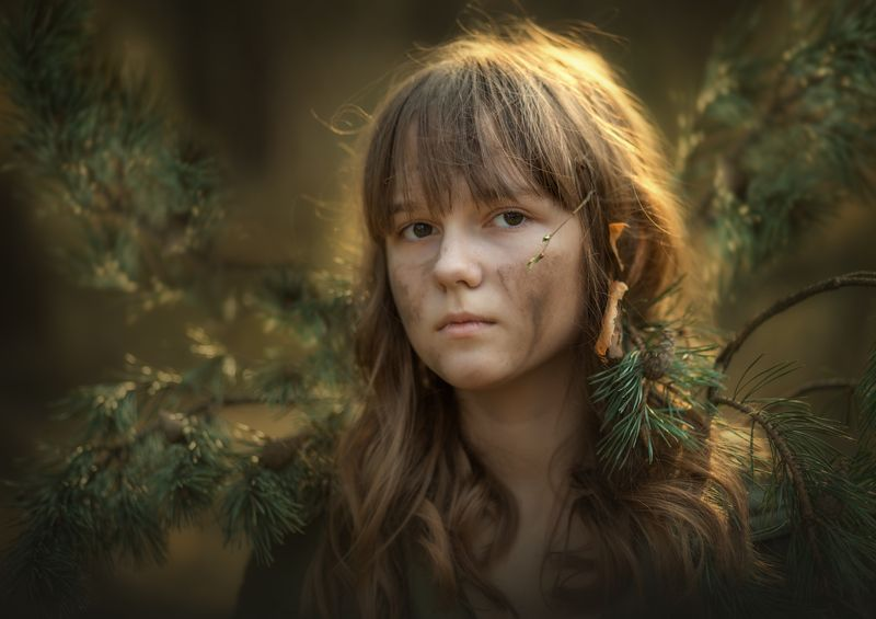Портрет, лес В лесном обличииphoto preview