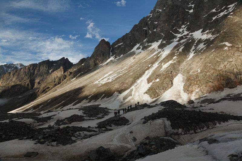 Безенги, Кавказ, Россия, горы, природа, альпинизм Ледник Мижиргиphoto preview
