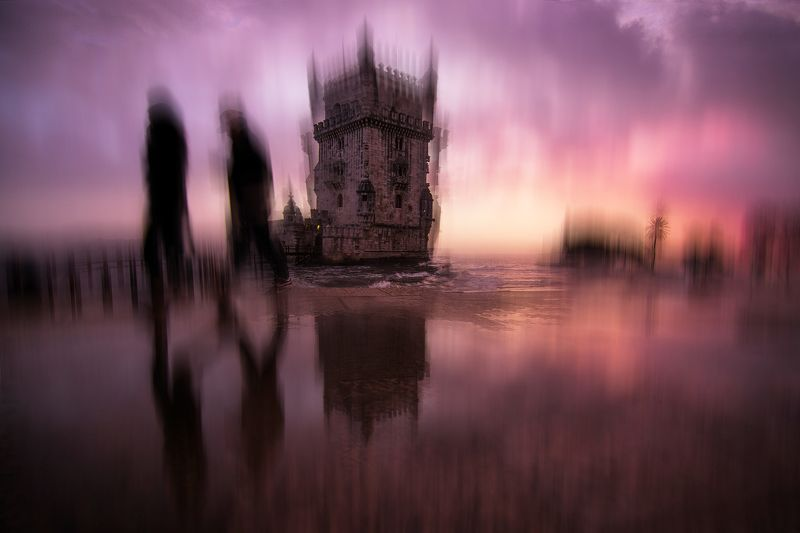 lisbon, portugal, abstract, art, movement, blur Sunset in Lisbonphoto preview