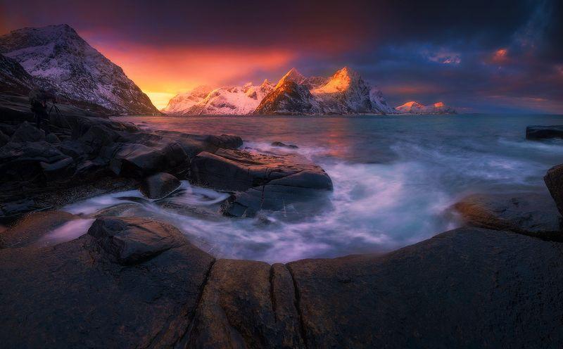 vareid  norway seascape landscape sunrise mountains  vareid IIIphoto preview