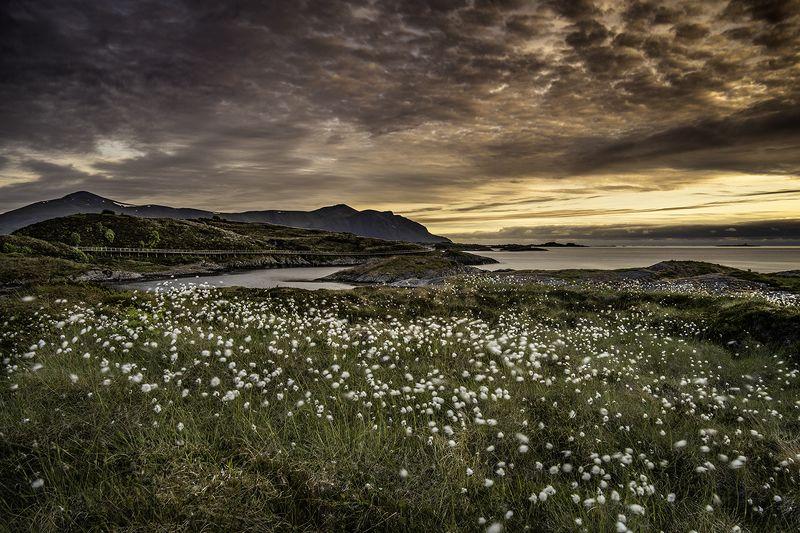 norway, landscape, midnight, sunset, atlantic ocean road Atlantic Ocean Road, Norwayphoto preview