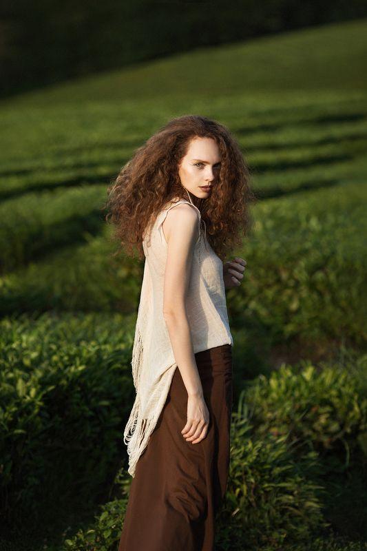 фото, портрет, девушка, рыжая, чай Катяphoto preview
