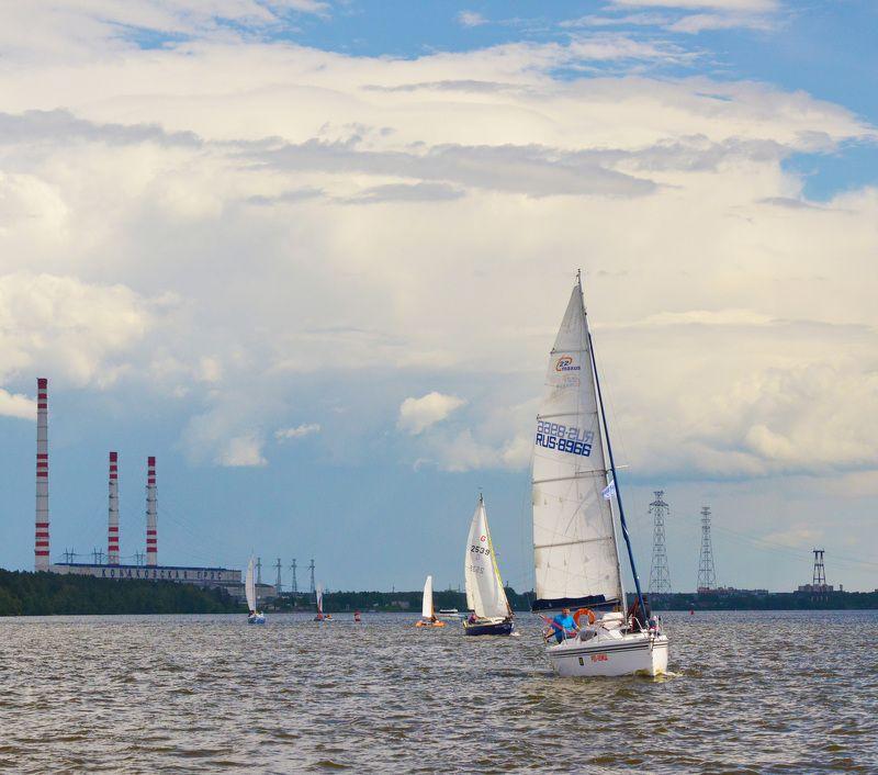 московское море, иваньковское водохранилище, конаково, народная регата Ритмы Конаковоphoto preview