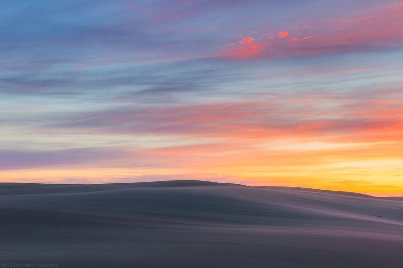 Утреннее небо над дюной.photo preview