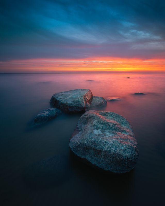закат, море, камни, цвет, латвия, рига, long, exposure, nikon Краски летаphoto preview