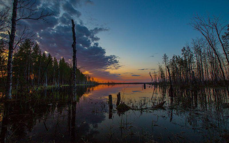 закат,природа,коми,печора Закатphoto preview